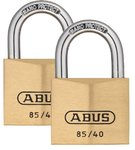 ABUS 85/50 Vorhangschloss Messing TWIN Set