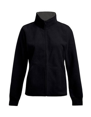 Double Fleece Jacket, Black/Light Grey Men´s