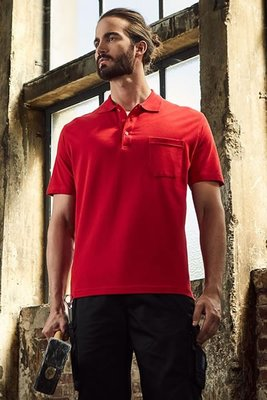 Men's Heavy Polo Pocket Piqué, 100 % Baumwolle, 220 g/m², XS–5XL.