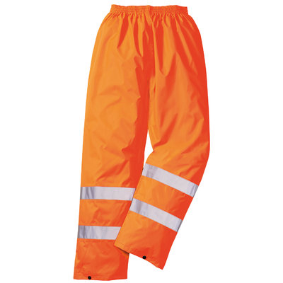 HiVis Warn Regenhose EN ISO 20471 Class 1, PVC beschichtet orange